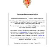 Customer Relationship Officer Vacancy