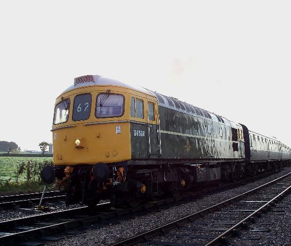 Class 33 CROMPTON D6566 to haul services on Sunday 2nd June 2019