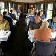 ALL DAY BREAKFASTS ON THE MOVE DURING THE WEST SOMERSET RAILWAY'S  AUTUMN STEAM GALA