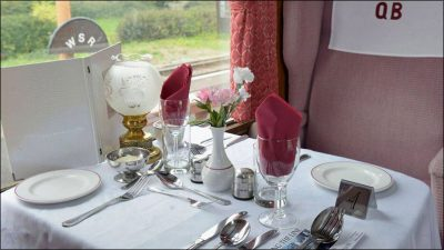 Quantock Belle Dining services throughout the Spring Steam Gala.