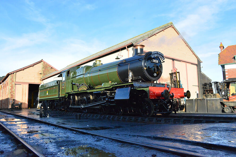 GWR 78xx Manor Class No. 7828 Odney Manor returns to steam after two-year boiler overhaul.